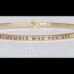 Remember how you are thin hook bangle bracelet